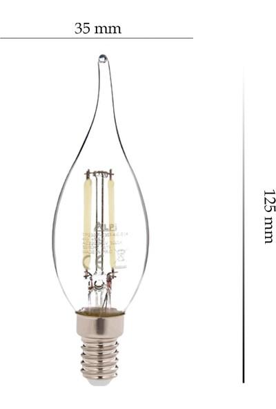 Alpi 4w E14 Kıvrık 6500K Beyaz Işık LED Ampul E14-KB 5'li