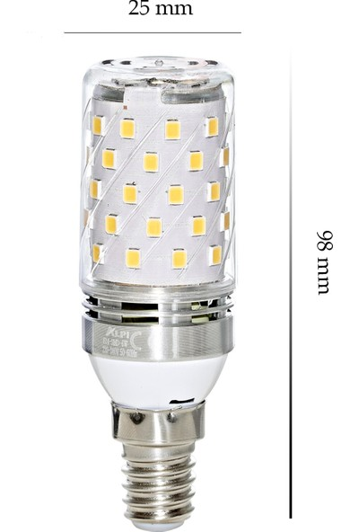 Alpi E14 6w Smd LED Ampul - 4000K