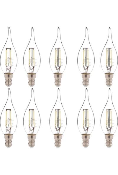 Alpi 4w E14 Kıvrık 6500K Beyaz Işık LED Ampul E14-KB 10'lu