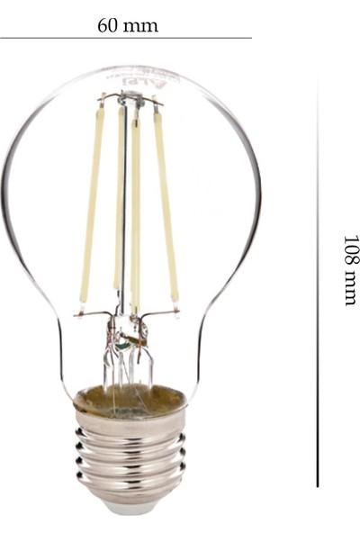 Alpi 7w A60-B 6500K Şeffaf LED Ampul 10'lu