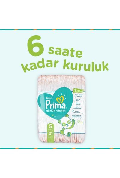 Prima Bebek Bezi Günlük Rahatlık 5 Beden 84 Adet Fırsat Paketi 21x4