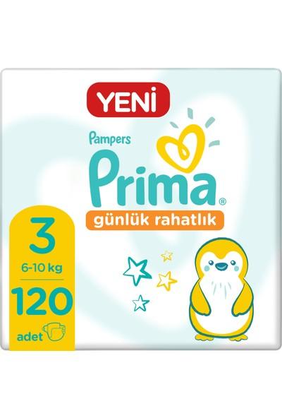 Prima Bebek Bezi Günlük Rahatlık 3 Beden 120 Adet Fırsat Paketi 30x4