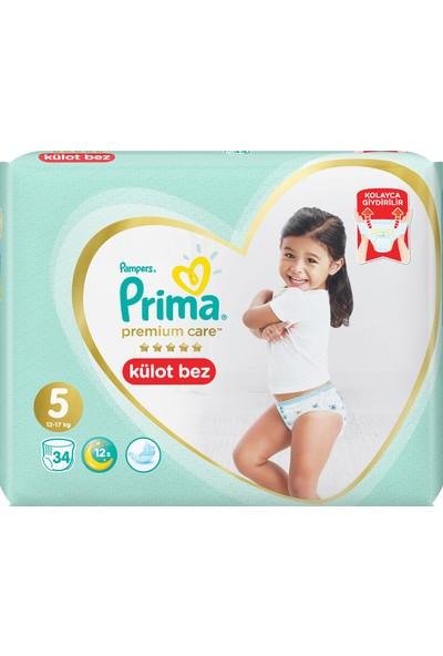 Prima Premium Care Külot Bebek Bezi 5 Beden 34 Adet Junior İkiz Paket