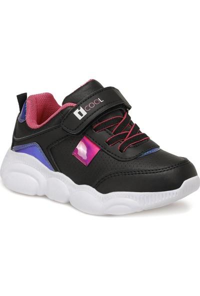 I Cool Moshi Siyah Kız Çocuk Yürüyüş Ayakkabısı