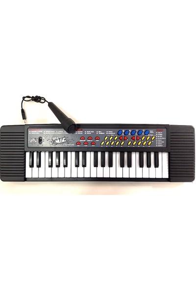Asya 37 Tuşlu Mikrofonlu Org Çocuk Piyano Karaoke - Siyah