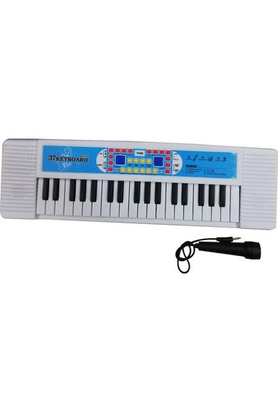 Asya 37 Tuşlu Mikrofonlu Org Çocuk Piyano Karaoke - Beyaz