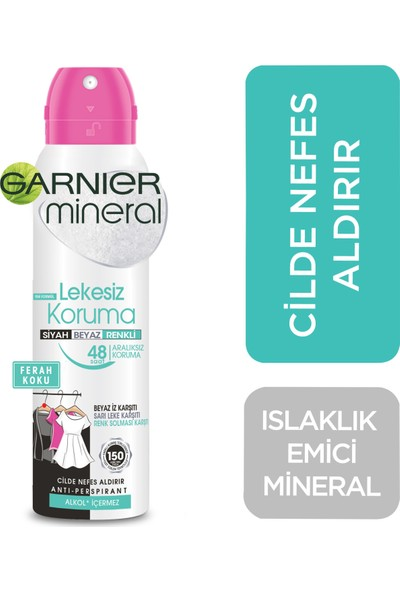 Garnier Mineral Lekesiz Koruma Ferah Koku Sprey Deodorant