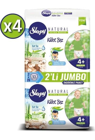 Sleepy Külot Bez 4+ Numara Maxi Plus 4 x 2'li Jumbo