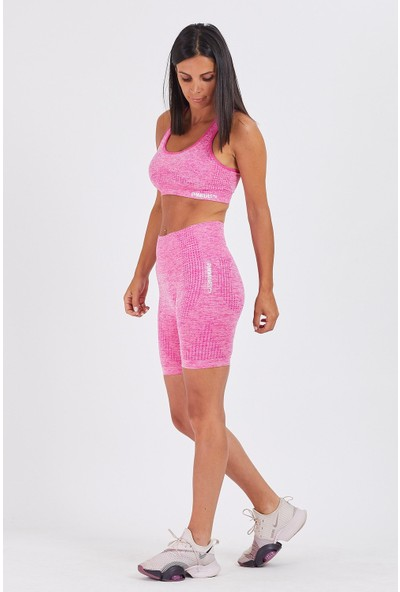 Gymwolves Bayan Spor Şort   Aktivated Serisi   Sweet Pink   Dikişsiz Spor Şort   Woman Sports Sorts