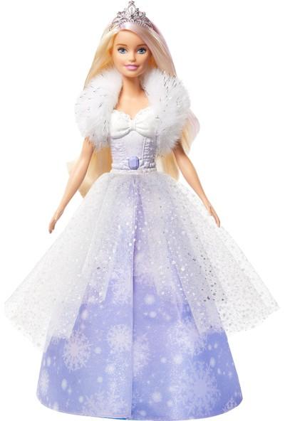 Barbie Dreamtopia Karlar Prensesi Bebek, 30 cm, Pembe Gölgeli, Sarı Saçlı GKH26