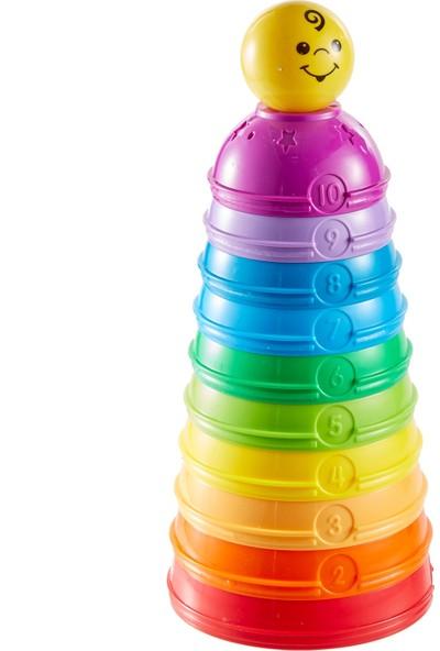 Fisher-Price Numaralı Kaplar - İç içe Geçebilir 10 Renkli Kap 5 Adet Topa Dönüşür W4472
