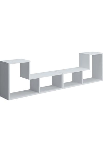 Ruum Store By Doğtaş Legon Modüler Tv Ünitesi Kitaplık Orta Sehpa Opak Beyaz