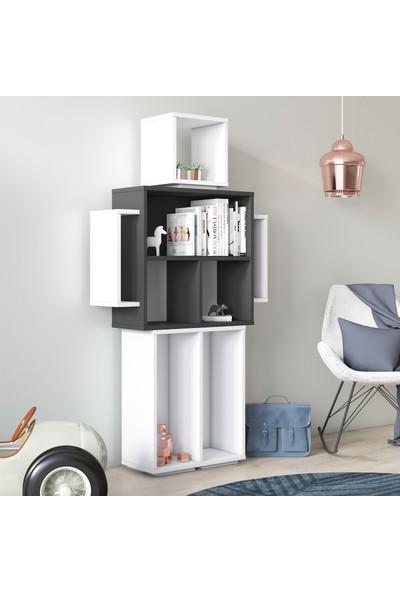 Ruum Store By Doğtaş Robotik Kitaplık Opak Beyaz/antrasit