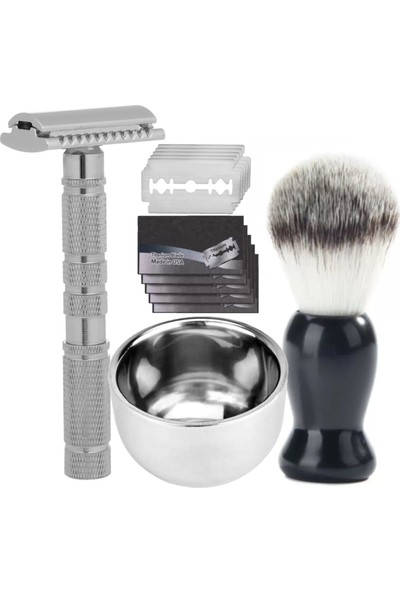 Qualis Shave S8 Tıraş Makinesi + Fırça + Kase + 5 Adet Jilet