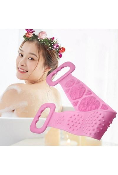 Ecoform Çift Taraflı Silikon Banyo Sırt Kesesi Tükenmeyen Duş Lifi 60 cm