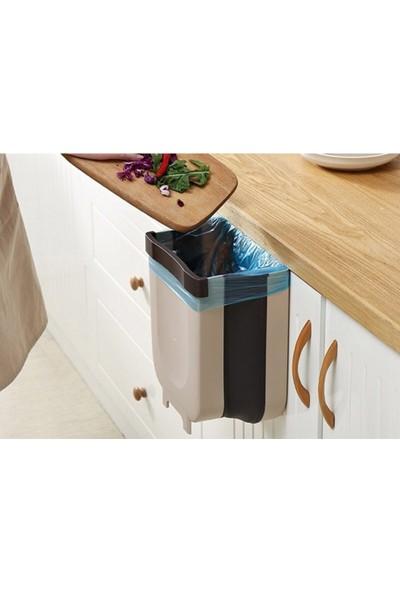 Redro Home Mutfak Için Katlanabilir Askılı Çöp Kovası Büyük Boy 9 Lt