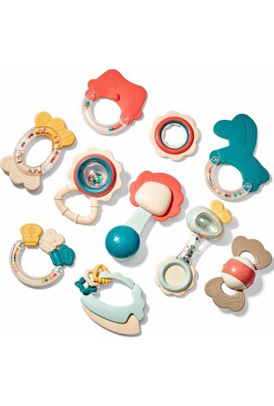 Cubic Fun 10'lu Bebek Dişlik ve Çıngırak