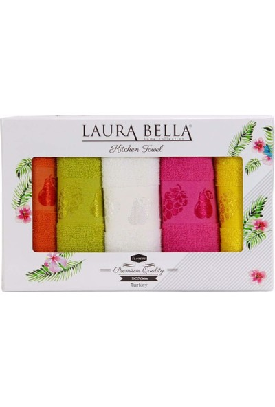 Laura Bella Fruit 5'li Havlu Seti 30 x 50 cm