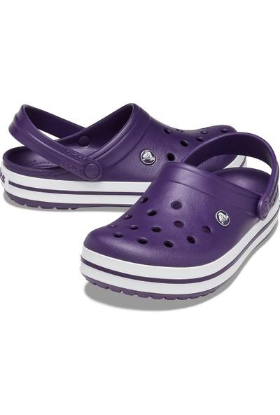 Crocs 11016-55Y Mulberry White Crocband Sandalet