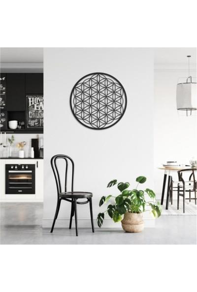 Dem Studio Ahşap Yaşam Çiçeği Kutsal Geometri Dekoratif Tablo