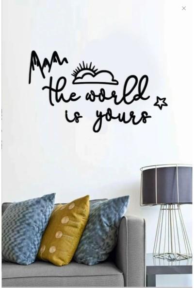 Dem Studio The World Is Yours Ahşap Duvar Yazısı