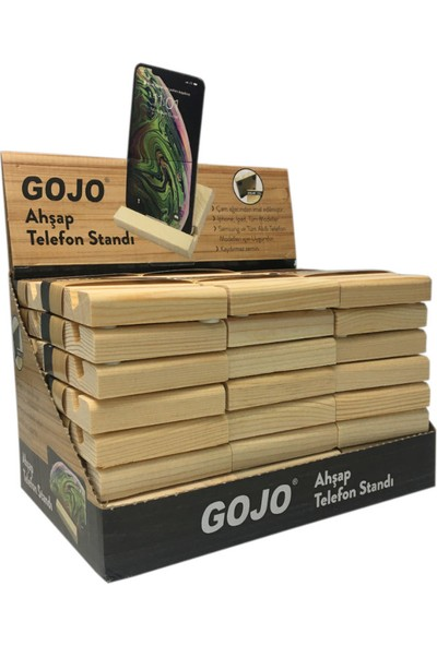 Gojo Ahşap Telefon Standı 48 Adet