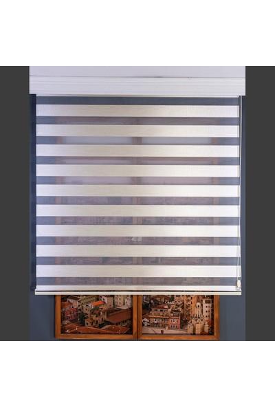 Anıper Zebra Perde Krem Kalın Hasır Bamboo 80 x 200 cm