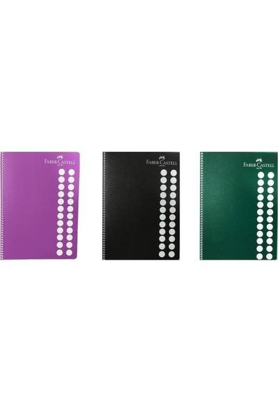 Faber-Castell Koyu Renkler Spiralli Defter 100 Yaprak A4 Çizgili 2'li