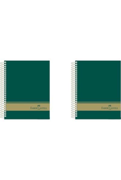 Faber-Castell Sert Kapak Sep.3+1 Yeşil Defter 160 Yaprak A4 2'li