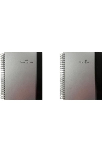 Faber-Castell Sert Kapak Spiralli Defter 200 Yaprak A4 3 Kareli +1 Çizgili + 1 Çizgisiz Ayraçlı 2'li