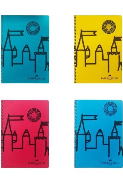 Faber-Castell Şato Spiralli Defter 120 Yaprak A4 Kareli