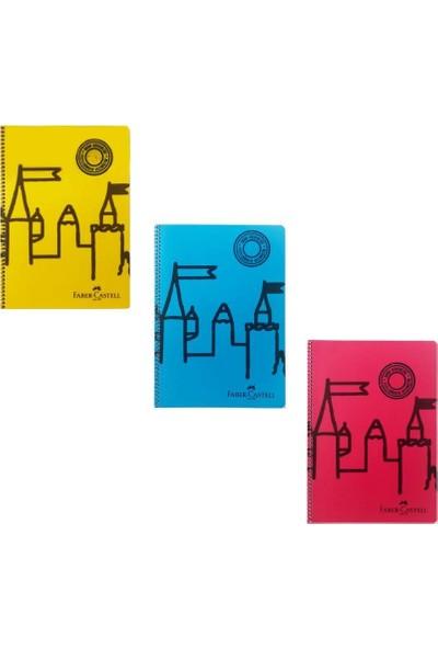 Faber-Castell Şato Spiralli Defter 80 Yaprak A4 Çizgili 3'lü
