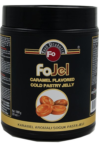 FO Fo Karamel Aromalı Soğuk Pasta Jeli 1 kg