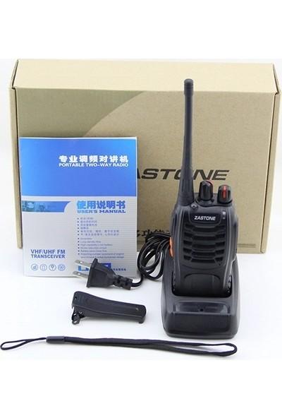 Zastone ZT-V68 4'lü El Telsizi Siyah