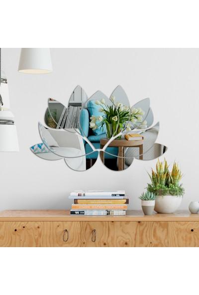 Dez Çiçek Desenli Akrilik Duvar Aynası