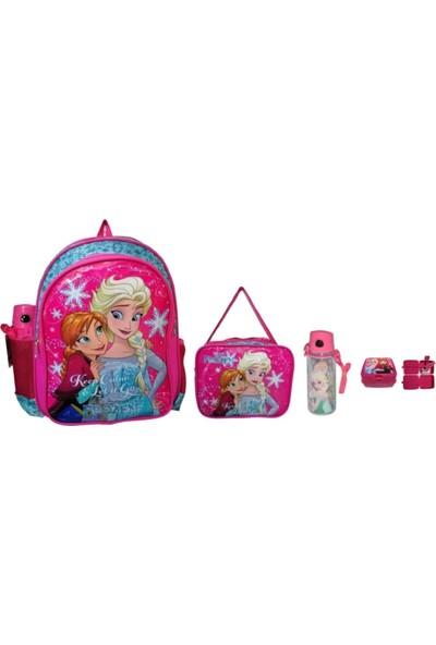 Frozen Okul Çantası Okul Seti Çanta, Beslenme, Matara, Beslenme Kabı 4'lü