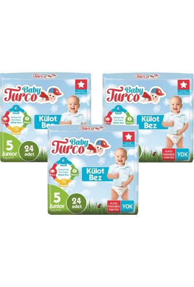 Baby Turco Babyturco Külot Bez No:5 3 Paket 72'li