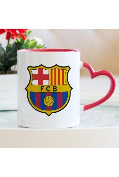 Hediyehanem Barcelona Kalpli Kupa Bardak