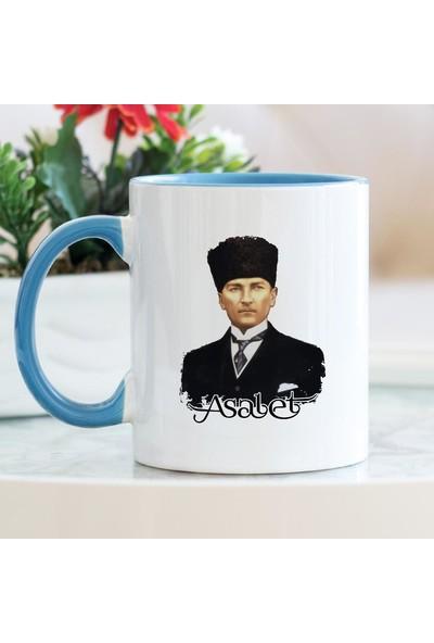 Hediyehanem Atatürk Asalet Mavi Kupa Bardak