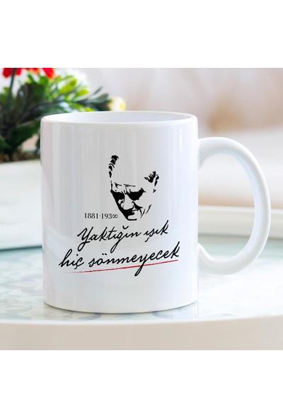 Hediyehanem Atatürk Porselen Kupa Bardak