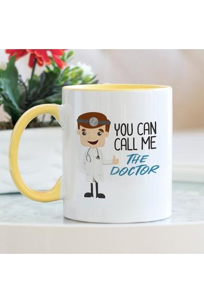 Hediyehanem You Can Call me The Doctor Sarı Kupa Bardak