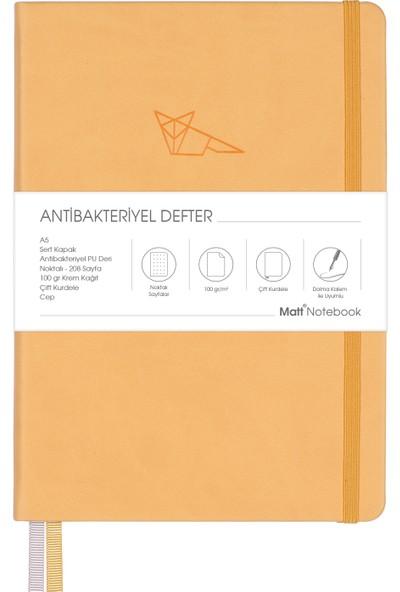 Matt Notebook A5 Antibakteriyel Defter Noktalı Sarı