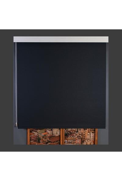 Aniper Siyah Ithal Mat Polyester Stor Perde 70x200 cm