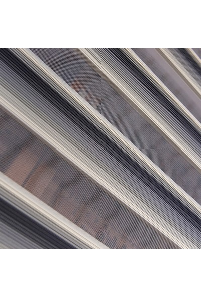 Aniper Zebra Perde Krem Kahve Vizon Mini Pliseli Stor 70x200 cm