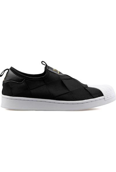 adidas Kadın Günlük Ayakkabı Siyah Superstar Slip On W FV3187