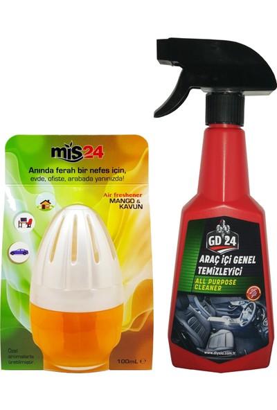 GD24 Araç İçi Temizleyici + MİS24 Mango Kavanoz Koku