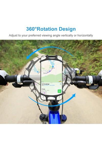 Floveme Motosiklet Bisiklet Scooter 360 Derece Dönen Telefon Tutucu