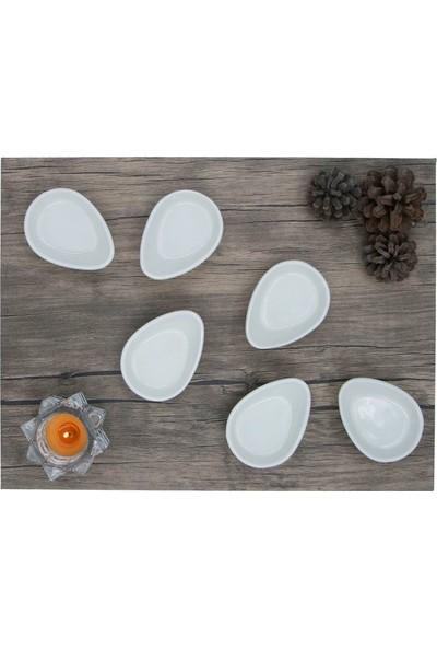 Arna 8 cm Seramik Yumurtalık/sosluk 6 Adet - Taş
