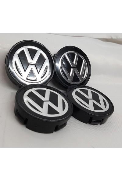 Yed Jant Göbeği Volkswagen 58/55 (55 mm Yuva) 4'lü Set Siyah