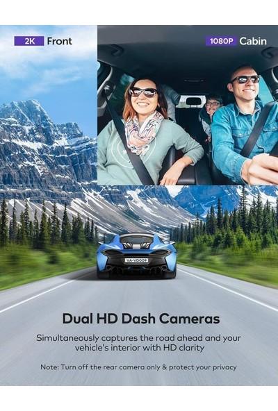 Vava 2k Ön ve 1080P Kabin Veya 2.5k 30FPS Tek Ön Araç Kamerası